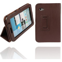 Twins Leder Folio für Samsung Galaxy Tab 2, 7.0, braun