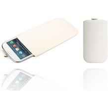 Twins Plain Pouch für Samsung Galaxy S3, weiß