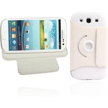 Twins Folio Stand 360 für Samsung Galaxy S3, weiß