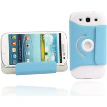 Twins Folio Stand 360 für Samsung Galaxy S3, blau