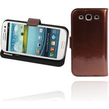 Twins Glossy BookFlip für Samsung Galaxy S3, braun