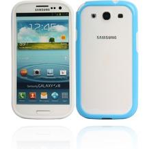 Twins 2Color Bumper für Samsung Galaxy S3, weiß-blau