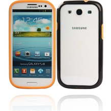Twins 2Color Bumper für Samsung Galaxy S3, orange-schwarz