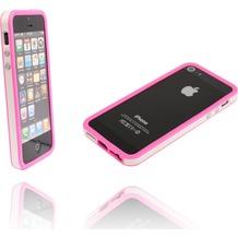 Twins 2Color Bumper für iPhone 5/5S/SE, weiß-pink