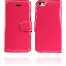 Twins Glossy Bookflip für iPhone 5/5S/SE, pink