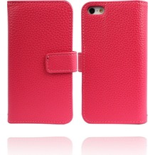 Twins Premium BookFlip Leather für iPhone 5/5S/SE, pink