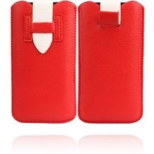 Twins Flap Pouch für iPhone 5/5S/SE, rot-weiß