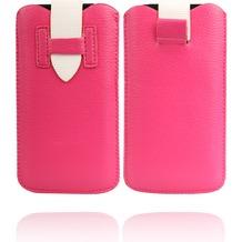 Twins Flap Pouch für iPhone 5/5S/SE, pink-weiß