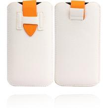 Twins Flap Pouch für iPhone 5/5S/SE, weiß-gelb