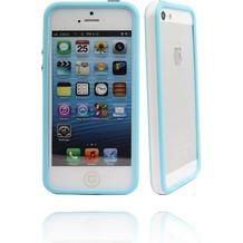 Twins 2Color Bumper für iPhone 5/5S/SE, weiß-blau
