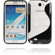 Twins Convenience für Samsung Galaxy Note 2, schwarz-transparent