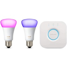 Philips Hue White and Color Ambiance Starter Kit 2 x E27 LED inkl. Bridge