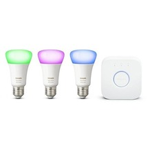 Philips Hue White and Color Ambiance Starter Kit 4. Gen, 3 x E27 inkl. Bridge