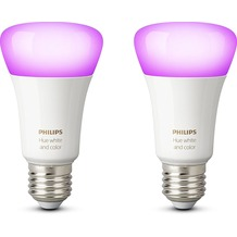 Philips Hue White and Colour Ambiance E27 Doppelpack
