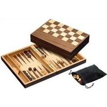 Philos-Spiele 2508 - Schach/Backgammon aus Walnussholz