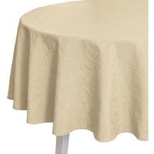 pichler CORDOBA Tischdecke sand 170 cm rund