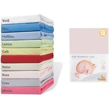 Pinolino Spannbetttücher für Wiegen und Anstellbettchen im Doppelpack, Jersey, rosa