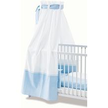 Pinolino Himmel für Kinderbetten 'Vichy-Karo', blau