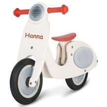 Pinolino Holz-Laufrad 'Vespa Wanda' cremeweiß für Kinder MIT GRAVUR (z.B. Namen)