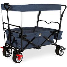 Pinolino Klappbollerwagen 'Paxi Style' mit Bremse, marineblau meliert