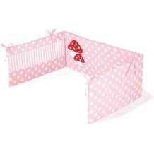 Pinolino Nestchen für Kinderbetten 'Glückspilz', rosa