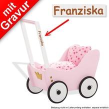Pinolino Puppenwagen 'Prinzessin Lea' MIT GRAVUR (z.B. Namen)