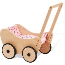Pinolino Puppenwagen 'Trixi', inkl. Bettzeug Dessin 'Herzchen', rosa