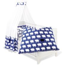 Pinolino Textile Ausstattung für Kinderbetten 'Happy Sheep', blau, 4-tlg.