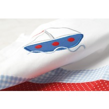 Pinolino Textile Ausstattung für Kinderbetten 'Schiff Ahoi', 4-tlg.