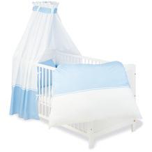 Pinolino Textile Ausstattung für Kinderbetten 'Vichy-Karo', blau, 4-tlg.
