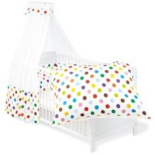 Pinolino Textile Ausstattung für Kinderbetten 'Dots', 4-tlg.