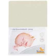 Pinolino Spannbetttuch für Kinderbetten, Jersey, natur