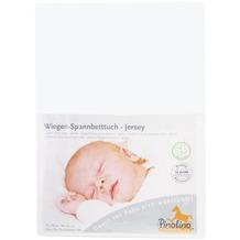 Pinolino Spannbetttuch für Wiegen und Anstellbettchen, Jersey, weiß