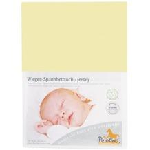 Pinolino Spannbetttuch für Wiegen und Anstellbettchen, Jersey, gelb