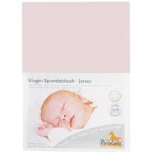 Pinolino Spannbetttuch für Wiegen und Anstellbettchen, Jersey, rosa
