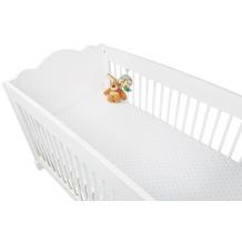 Pinolino Spannbetttücher für Kinderbetten im Doppelpack 'Sternchen', Jersey, hellblau und Uni, weiß