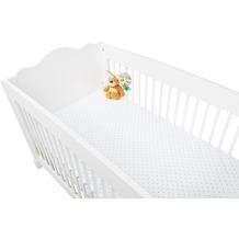 Pinolino Spannbetttücher für Kinderbetten im Doppelpack 'Sternchen', Jersey, rosa und Uni, weiß