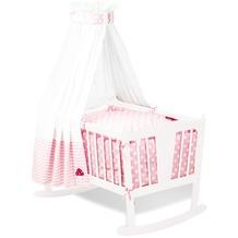 Pinolino Textile Ausstattung für Wiegen 'Glückspilz', rosa, 4-tlg.