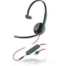 Plantronics Headset Blackwire C3215 monaural USB-C & 3,5 mm