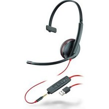 Plantronics Headset Blackwire C3215 monaural USB & 3,5 mm