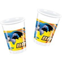 "PROCOS Plastikbecher mit Motiv ""Batman"", 8 Stück 200 ml"