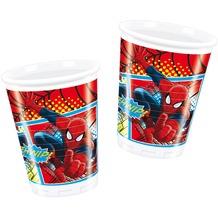 "PROCOS Plastikbecher mit Motiv ""Ultimate Spiderman"", 8 Stück 200 ml"