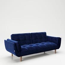 """PLAYBOY Bettsofa """"SCARLETT"""" blau Couch"""