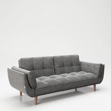 """PLAYBOY Bettsofa """"SCARLETT"""" Grau Couch"""