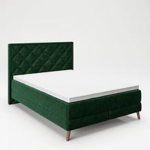 """PLAYBOY Boxspringbett """"AUDREY"""" grün, 140x200 cm"""