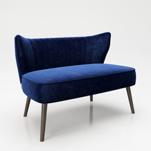 "PLAYBOY Loungesofa ""KELLY"" Retro-Design blau"
