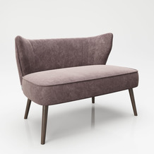 "PLAYBOY Loungesofa ""KELLY"" Retro-Design rosa"