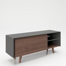 """PLAYBOY Lowboard """"VICTORIA"""", Nussbaumdekor, TV-Board im Retro-Design 150x58,6 cm"""