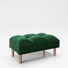 "PLAYBOY Ottoman ""SCARLETT"" Fußhocker Vintage grün"