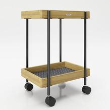 """PLAYBOY Rolltisch """"NANCY"""" mit zwei Ablagen Servierwagen 46x57 cm"""